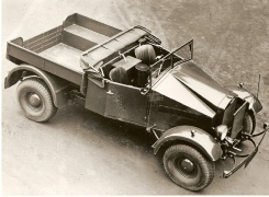 An early publicity shot of a PU personnel car.